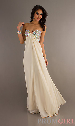 Jasz Open Back Evening Gowns Strapless Prom Dresses- PromGirl