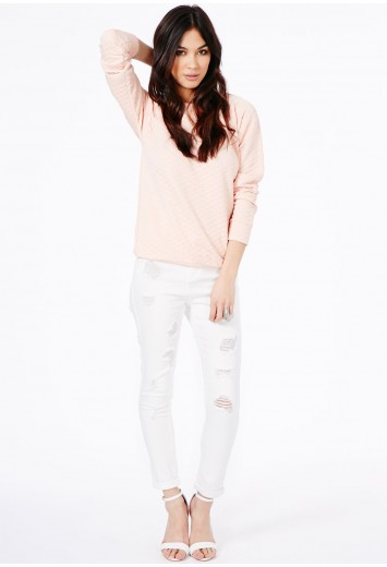 Edie High Waist Ripped Skinny Jeans - Jeans - Missguided