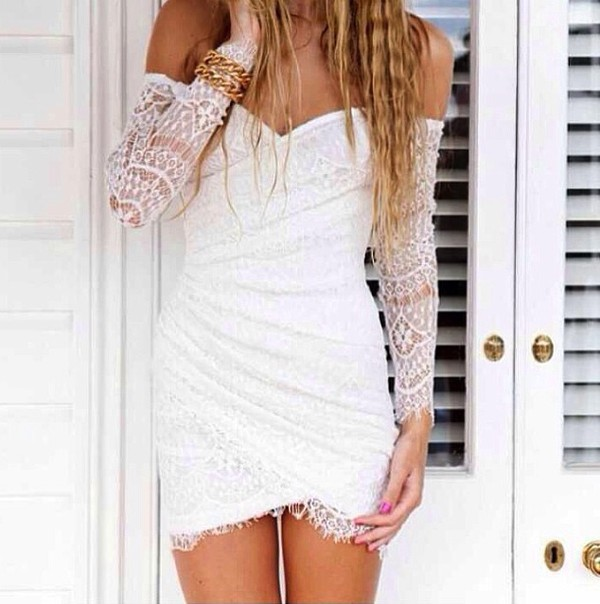 dress white dress summer dress jewels