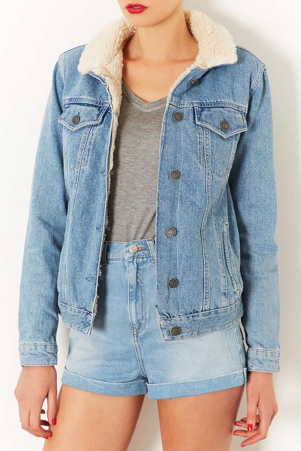 jacket denim jacket denim topshop winter jacket fur cozy shorts
