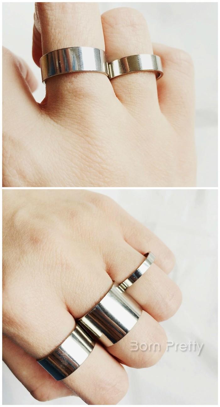 $1.98 5pcs Ring Fashion Metal Punk Style Knuckle Ring Tail Ring - BornPrettyStore.com