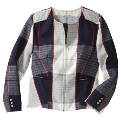 Merona® Women's Plaid Blazer -Navy : Target