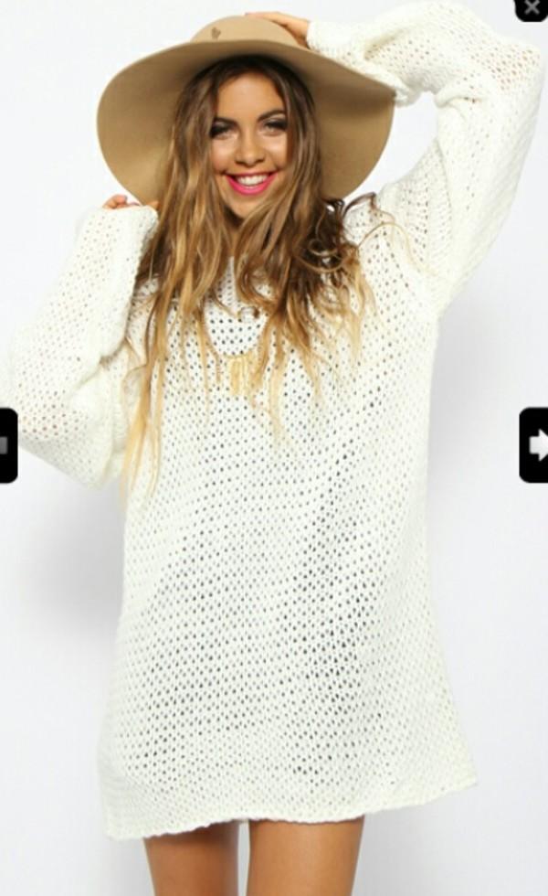 sweater tan loose knit sweater