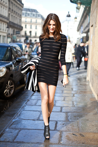 dress nylon stripes little black dress see through horizontal stripes striped dress mesh dress
