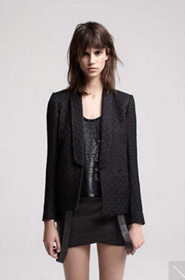jacket maje lookbook fashion tank top skirt