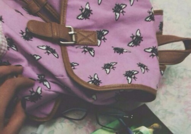 bag pink bumble bee bee