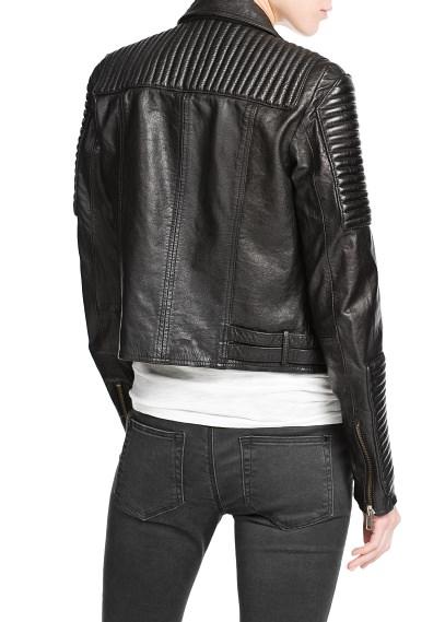 MANGO - CLOTHING - Jackets - Leather biker jacket