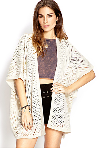 Cozy Open-Knit Cardigan   FOREVER 21 - 2000106630