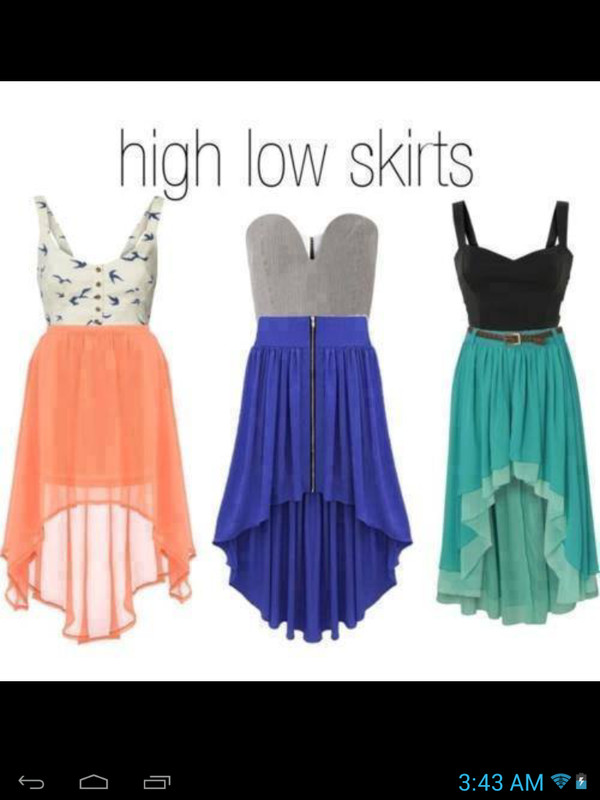 skirt summer skirt high low