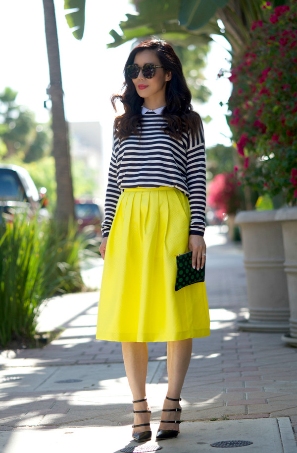 hallie daily sweater t-shirt shirt skirt bag sunglasses shoes