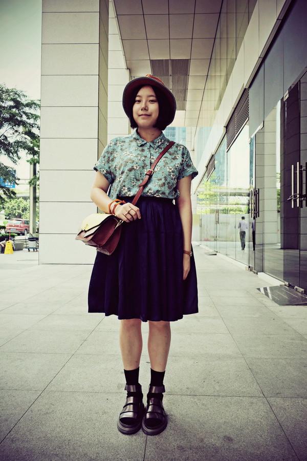 aeccrnticgirl shirt socks skirt jewels bag shoes socks and sandals