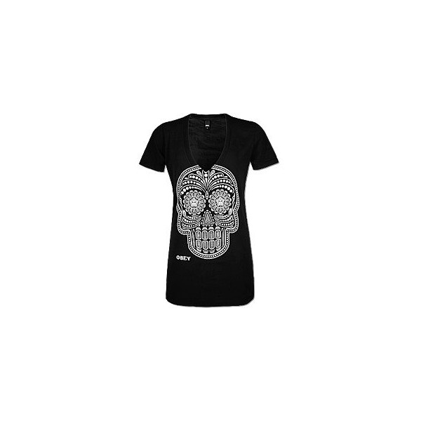 OBEY Day Of The Dead Glow T-Shirt - OBEY Clothing - Polyvore