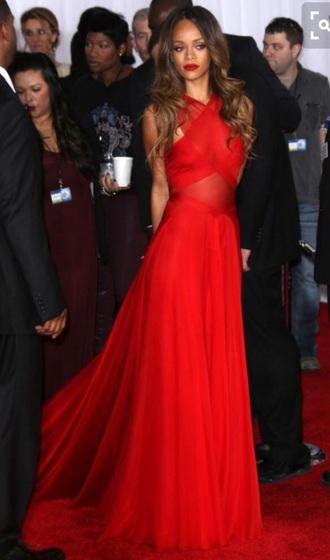 dress rihanna red dress red prom dress red carpet dress