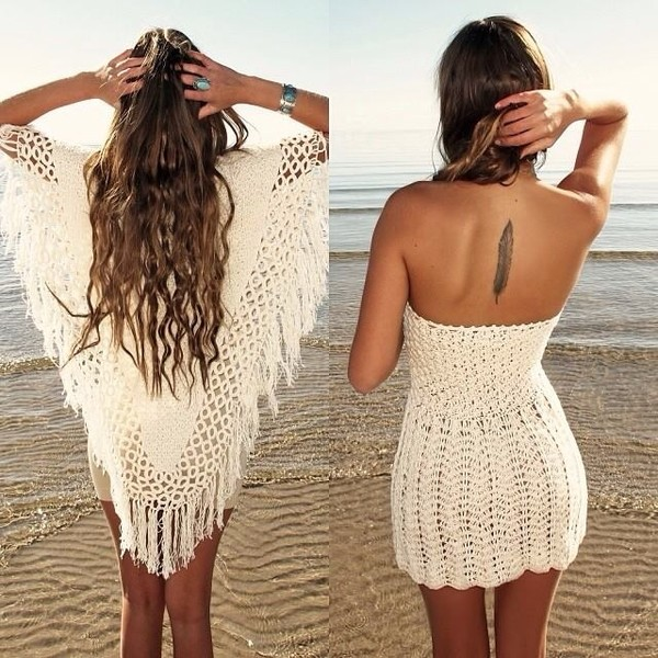 dress white dress ocean blue sunny pretty knitted cardigan tank top