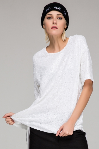 Relaxed sequin t-shirt - FrontRowShop