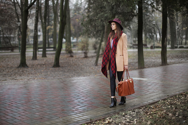 fashion agony coat sweater pants bag hat scarf shoes