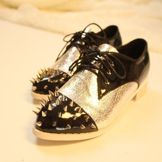 shoes spikes studded shoes oxfords dress shoes oxfords