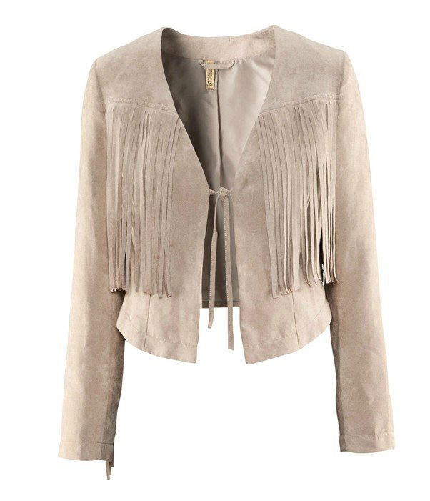 Free  shoping Woman fashion faux suede fringed edge lace jacket.TB 2169-in Basic Jackets from Apparel & Accessories on Aliexpress.com