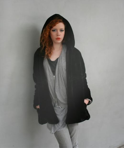 Luxurious Fur Look Hoodies Jacket | Choies