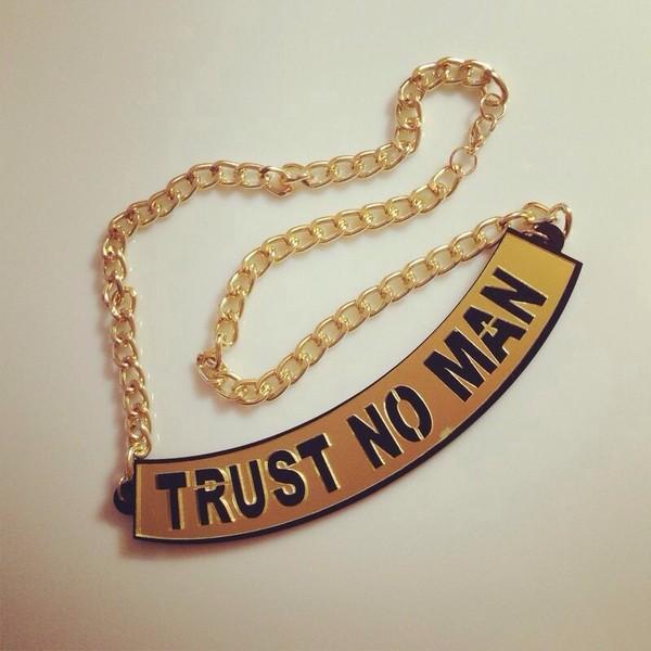 jewels trust no man. nicki minaj. necklace.