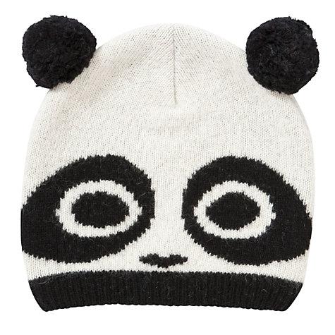 Buy John Lewis Novelty Panda Beanie, White online at John Lewis