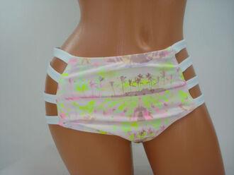 swimwear tropical white