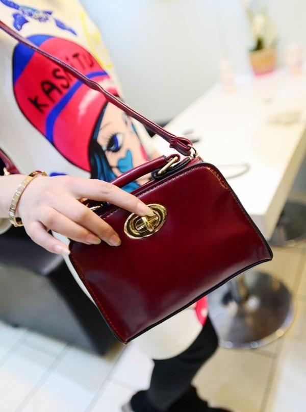 bag bag fashion vogue red vintage jewels