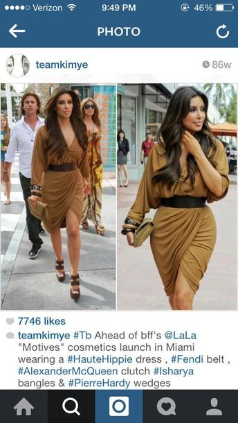 dress kim kardashian draped
