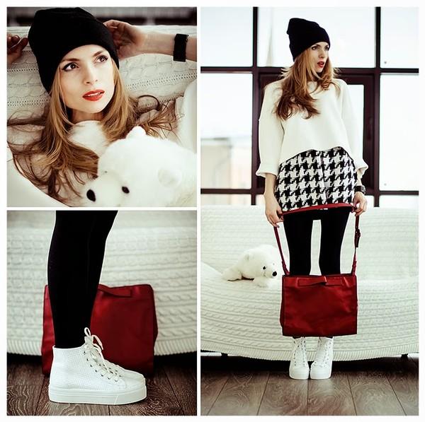 tini tani hat sweater skirt shoes bag jewels