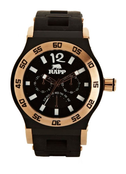 PINK NAPLES Rose Gold 3-Hand Multifunction (24 hr-Day-Date) | Rapp Black Watches