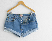 levi high waisted denim shorts on Etsy, a global handmade and vintage marketplace.