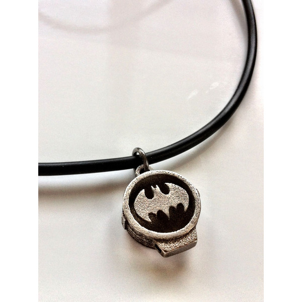 Batman - Bat Signal Pendant - Stainless Steel - Polyvore