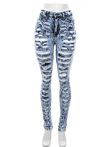 High Rise Blue Denim Jeans   Clothing   Womens Clothing, Shoes, Jewelry & Plus Sizes   B. De'Lish