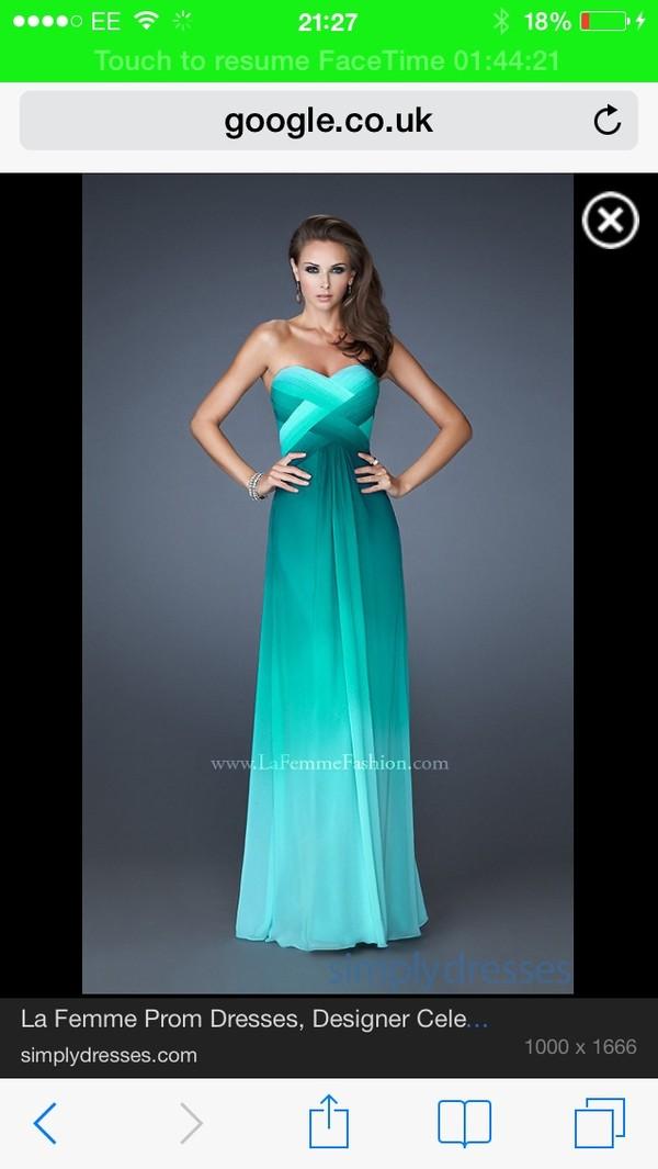 dress ombre teal blue dress blue prom dress prom dress long prom dress