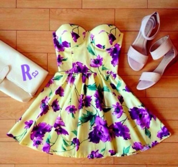 dress floral yellow violet victoria justice violetta flowers mini dress floewer buttons grey shoes cute dress floral dress floral bustier vintage purple dress spring outfits spring dress summer dress summer print dress lovely strapless dress yellow dress purple floral dress multicolor white dress spring summer outfits floraldress strapless floral dress bright nice babe flowerdresses bustier dress floral dress green dress pastel pastel dress vintage dress floral floral dress cute kawaii sexy retro mignon jolie floral dress strapless dress violets straples bag high heels white wedding boho dress sandals flats yellow purple flowers