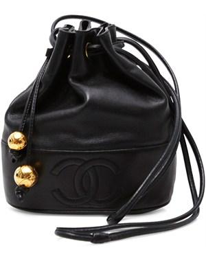 Vintage Chanel  - Vintage drawstring bag - sort - YouHeShe.com