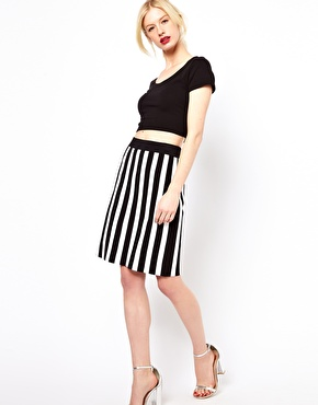 Boutique by Jaeger | Boutique by Jaeger Knitted Skirt in Stripe at ASOS