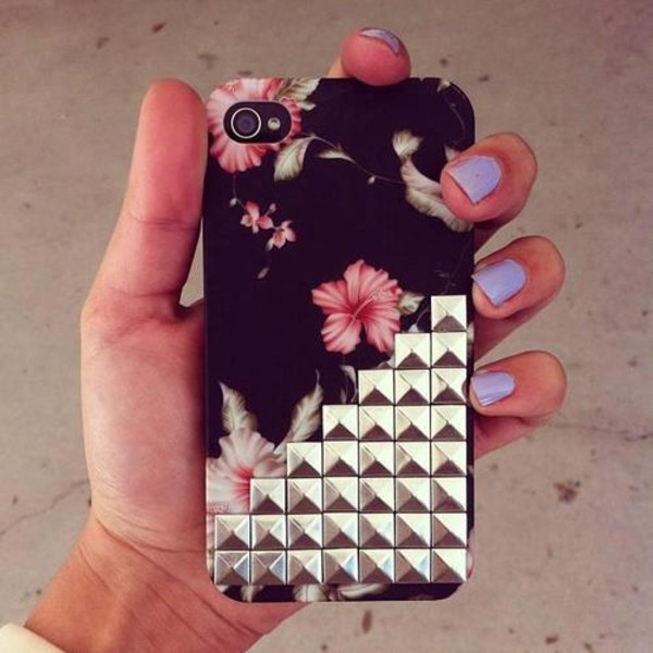 jewels i phone case iphone cover studs flowers
