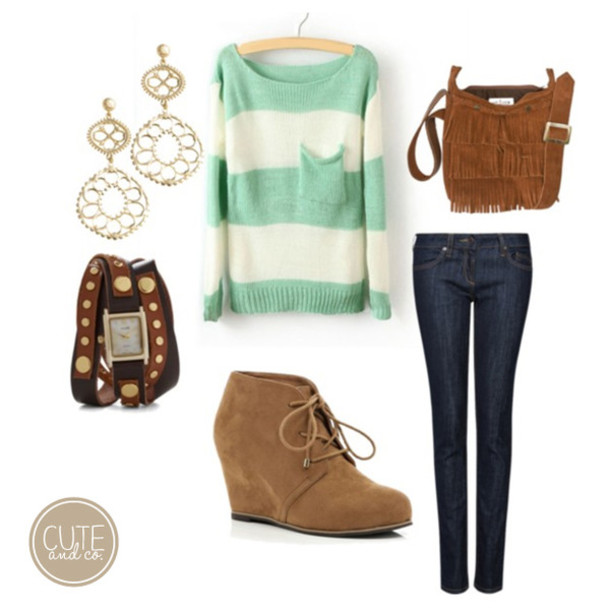 sweater clothes jumper stripes green