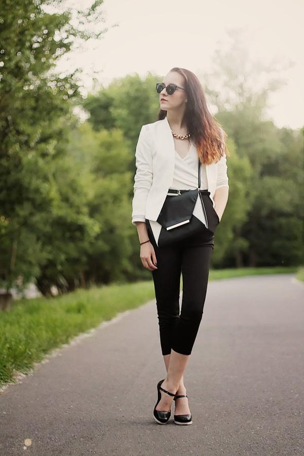 leona meliskova jacket romper shoes sunglasses