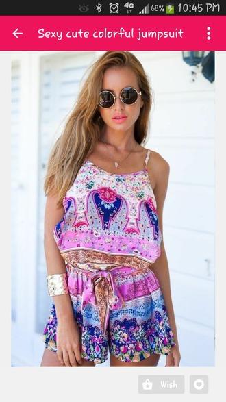 jumpsuit colorful summer vibrant