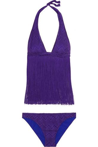 bikini knit purple crochet swimwear