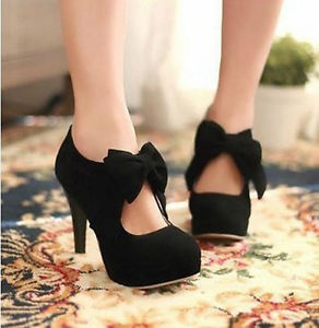 Women Sexy High Heel Black White Tie Fashion Ankle Shoes 22 | eBay