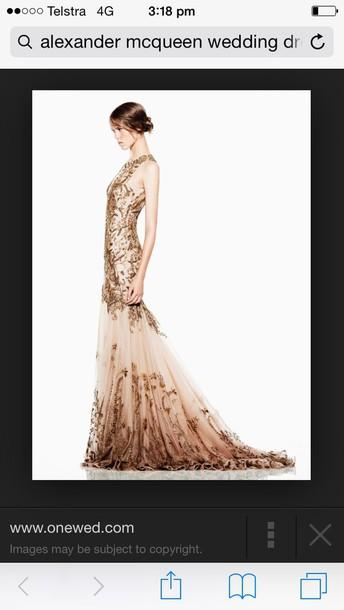 dress alxander mcqueen beaded wedding dress