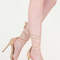 Keep clear tied faux suede heels nude black - gojane.com