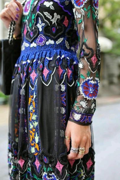 dress boho chic eclectic