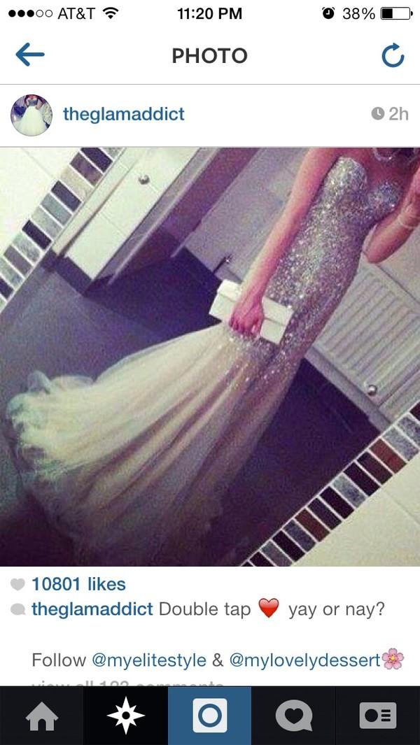 dress prom dress jewels long dress prom pretty sparkle