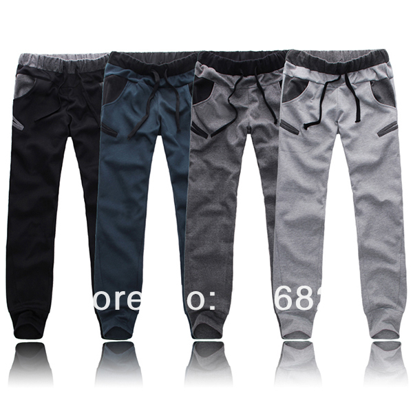 Mens Slim Design Sweatpants Skinny Harem Pants Slacks Sports Gym Trousers Style Free Drop shipping Stock on Aliexpress.com