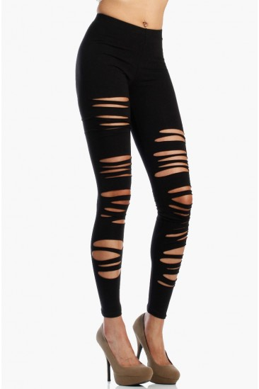 OMG Ripped Leggings - Black