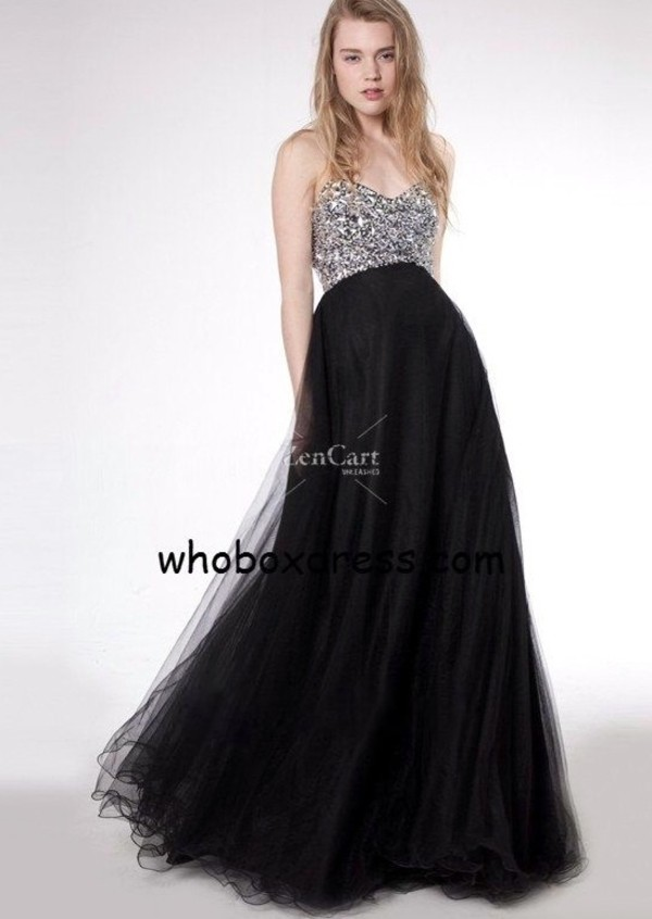 dress black prom dress long prom dress bling dress